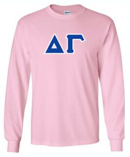 Delta Gamma Long Sleeve Sewn Lettered Tee