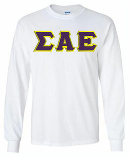 Sigma Alpha Epsilon Lettered Long Tee