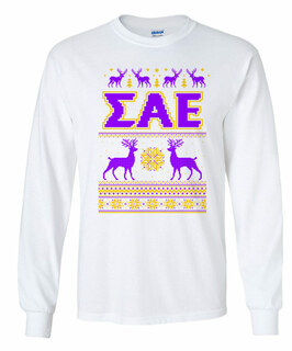 Sigma Alpha Epsilon Ugly Christmas Sweater Long Sleeve T-Shirt