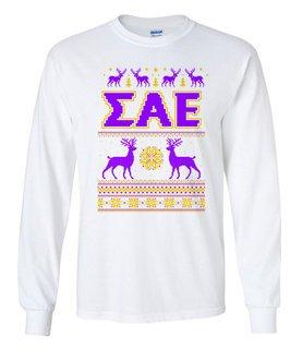 Sigma Alpha Epsilon Ugly Christmas Sweater Long Sleeve T-Shirt