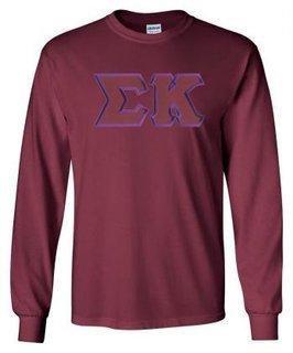 Sigma Kappa Lettered Long Sleeve Shirt