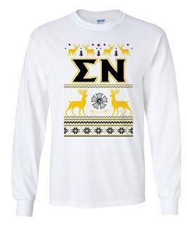 Sigma Nu Ugly Christmas Sweater Long Sleeve T-Shirt