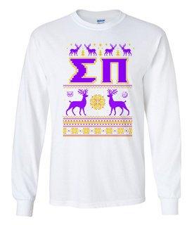 Sigma Pi Ugly Christmas Sweater Long Sleeve T-Shirt