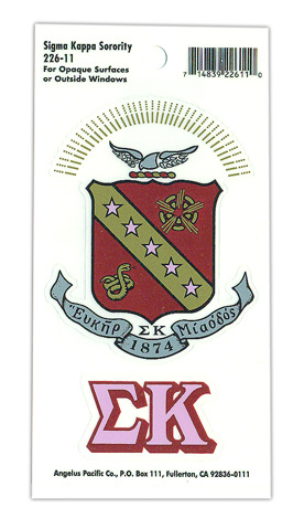 Sigma Kappa Crest - Shield Decals