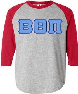 DISCOUNT- Beta Theta Pi Lettered Raglan T-Shirt