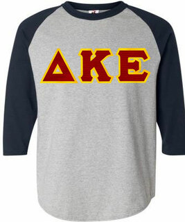 DISCOUNT- Delta Kappa Epsilon Lettered Raglan T-Shirt
