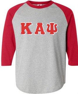 DISCOUNT- Kappa Alpha Psi Lettered Raglan T-Shirt