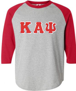 DISCOUNT- Kappa Alpha Psi Lettered Raglan T-Shirt