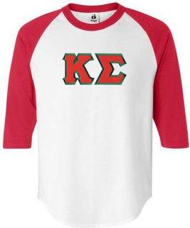 DISCOUNT- Kappa Sigma Lettered Raglan T-Shirt