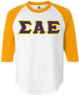 DISCOUNT- Sigma Alpha Epsilon Lettered Raglan T-Shirt