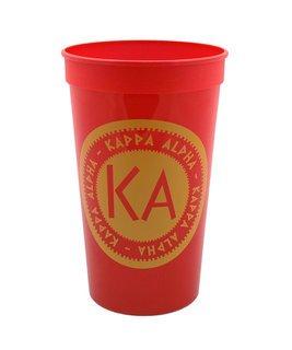 Set of 10 - Kappa Alpha Big Ancient Greek Letter Stadium Cup - Clearance!!!