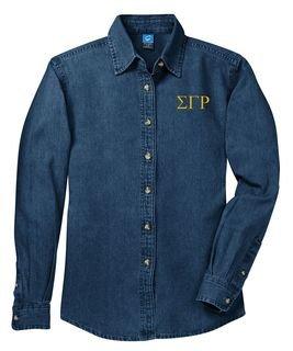 DISCOUNT-Sigma Gamma Rho Denim Shirt