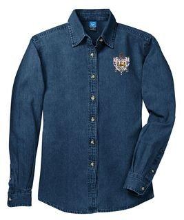 DISCOUNT-Sigma Gamma Rho Denim Shirt - Shield