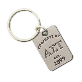 Alpha Sigma Tau Property Of Tag Keyring - CLOSEOUT