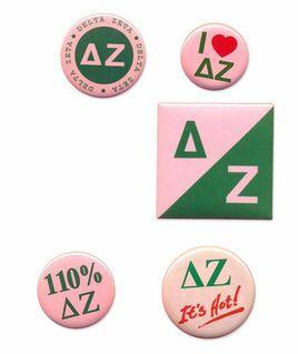 Delta Zeta Sorority Buttons 5-Pack