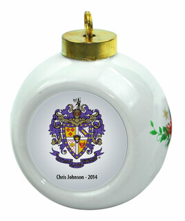 Sigma Alpha Epsilon Christmas Ornaments
