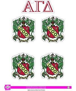 Alpha Gamma Delta Crest Sticker Sheet