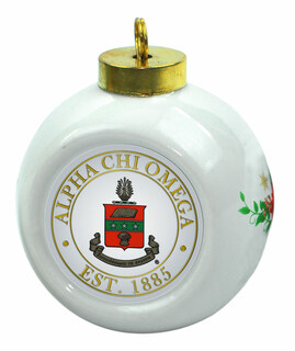 Alpha Chi Omega Christmas Ornaments