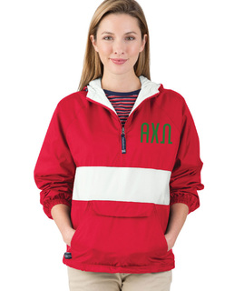 Alpha Chi Omega Fabulous Font Pullover Anorak