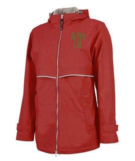 Alpha Chi Omega New Englander Nickname Rain Coat