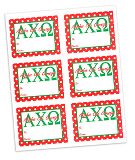 Alpha Chi Omega Sorority Gift Labels