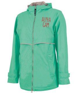 Alpha Gamma Delta New Englander Nickname Rain Coat
