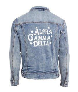 Alpha Gamma Delta Star Struck Denim Jacket