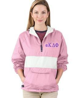 Alpha Kappa Delta Phi Fabulous Font Pullover Anorak