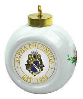 Alpha Phi Omega Christmas Ornaments