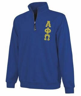 Alpha Phi Omega Crosswind Quarter Zip Twill Lettered Sweatshirt
