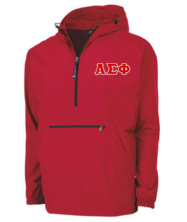 Alpha Sigma Phi Tackle Twill Lettered Pack N Go Pullover