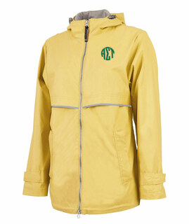 Alpha Sigma Tau New Englander Circle Monogram Rain Coat