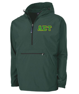 Alpha Sigma Tau Tackle Twill Lettered Pack N Go Pullover
