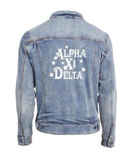 Alpha Xi Delta Star Struck Denim Jacket