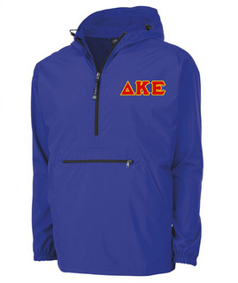 Delta Kappa Epsilon Tackle Twill Lettered Pack N Go Pullover