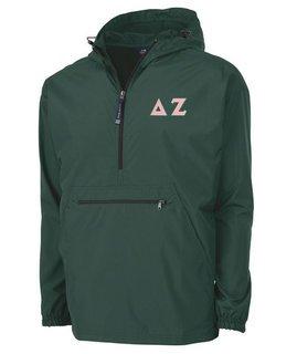 Delta Zeta Tackle Twill Lettered Pack N Go Pullover
