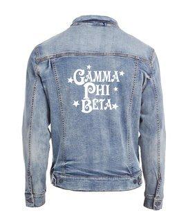 Gamma Phi Beta Star Struck Denim Jacket