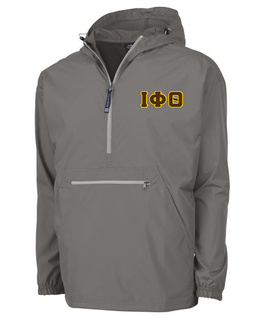 Iota Phi Theta Tackle Twill Lettered Pack N Go Pullover