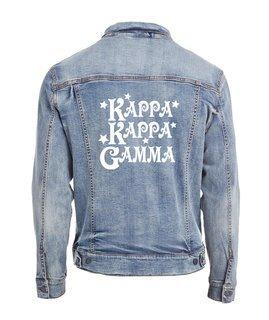 Kappa Kappa Gamma Sorority Northwest Slicker Rain Jacket with Greek Letters /& Custom Text Jacket