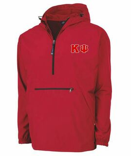 Kappa Psi Tackle Twill Lettered Pack N Go Pullover