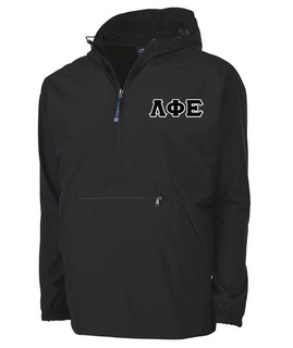 Lambda Phi Epsilon Tackle Twill Lettered Pack N Go Pullover