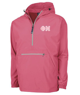 Phi Mu Tackle Twill Lettered Pack N Go Pullover