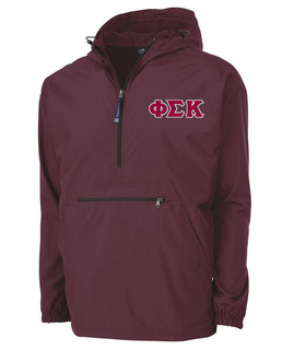 Phi Sigma Kappa Tackle Twill Lettered Pack N Go Pullover