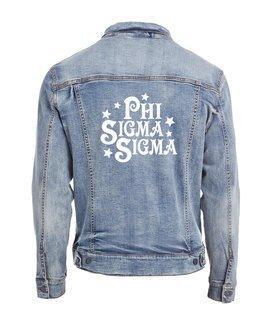 Phi Sigma Sigma Star Struck Denim Jacket