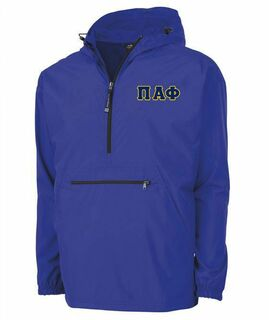 Pi Alpha Phi Tackle Twill Lettered Pack N Go Pullover