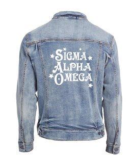 Sigma Alpha Omega Star Struck Denim Jacket