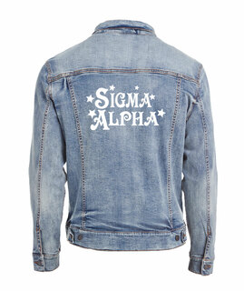 Sigma Alpha Star Struck Denim Jacket