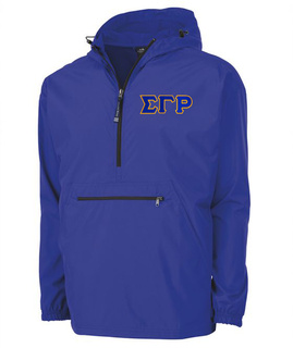 Sigma Gamma Rho Tackle Twill Lettered Pack N Go Pullover