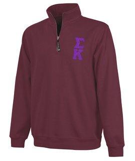 Sigma Kappa Crosswind Quarter Zip Twill Lettered Sweatshirt