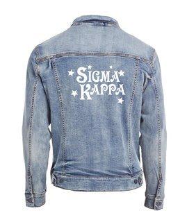 Sigma Kappa Star Struck Denim Jacket